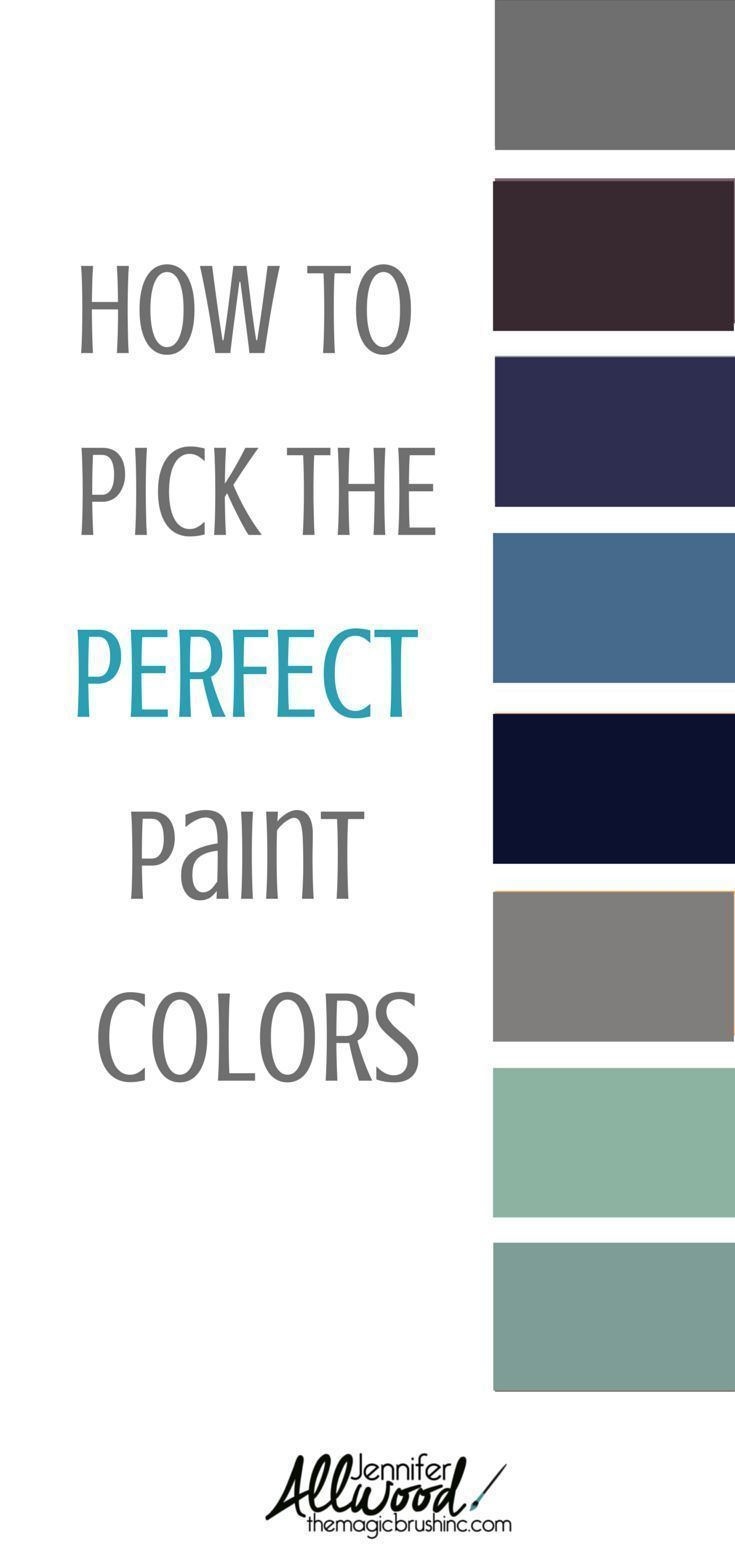 How to's : Clear, easy designer tips for picking the right color of paint for your home #diy #homedecor #painting