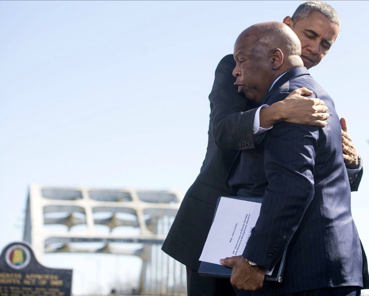 Some will never know, Some will never care about this Powerful Image. It means so much to so many.....Our President, Barrack H. Obama and long time Civil Rights Leader Rep. John Lewis. March 7th 2015.