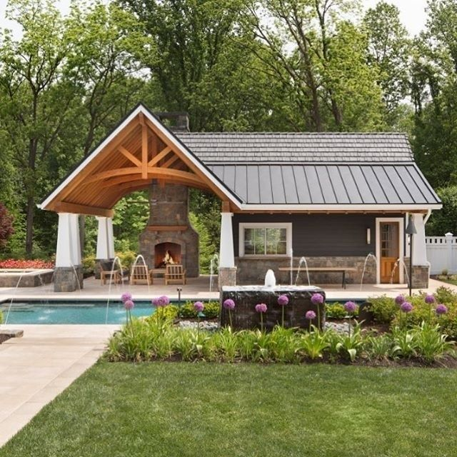 Modern Pool House Decorating Ideas On A Budget20 With Images