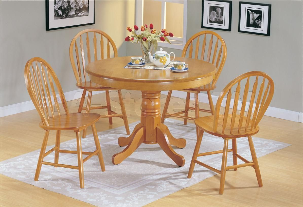 Oak Kitchen Table And Chairs Vintage Modern Furniture Check More At Http