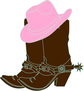 cowgirl boots and pink cowgirl hat clip art vector clip art online rh pinterest com Flower Clip Art Flower Clip Art