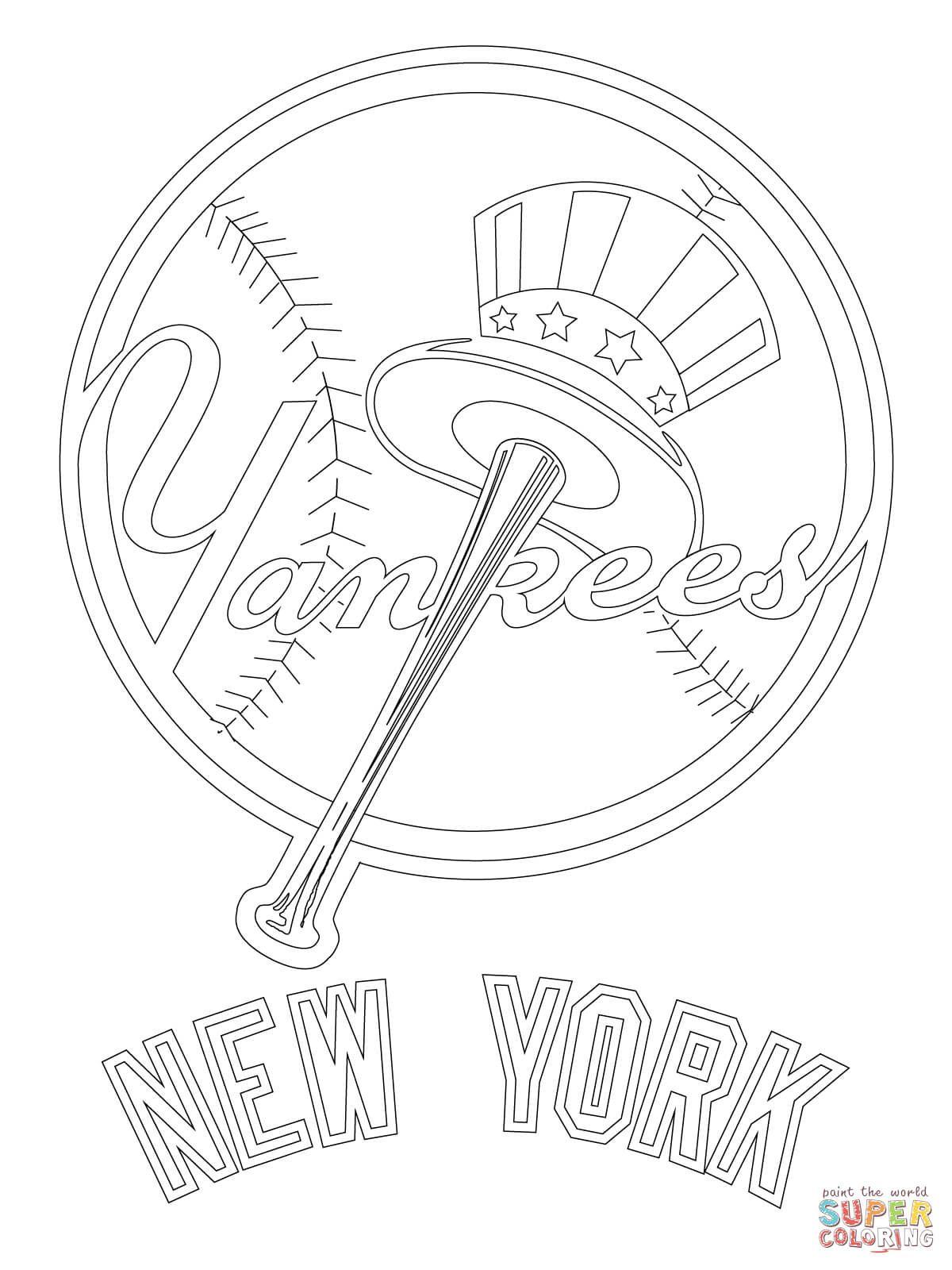 New York Yankees Logo Super Coloring New York Yankees Logo