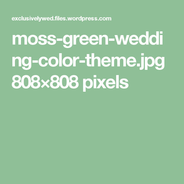 Pin by Kathy on kelsey | Moss green wedding, Wedding colors