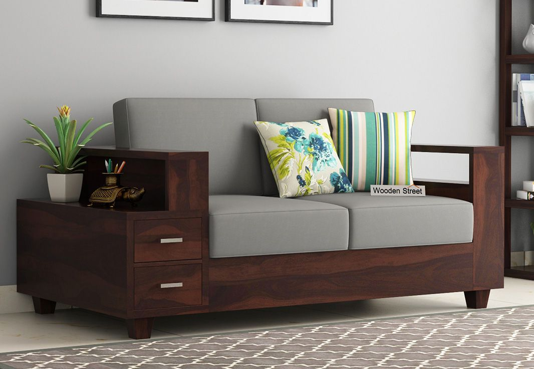 Buy Solace 2 Seater Wooden Sofa Walnut Finish Online In India Con Imagenes Muebles Hogar Muebles Decoracion Hogar