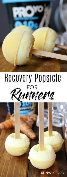 Recovery Accelerator Popsicles: Post Run Snack These little homemade popsicles are the perfect post run or workout snack food recipe. Packed with protein and natural anti-inflammatory ingredients turmeric and ginger. Accelerate your recovery this summer with these frozen treats. @proyotreats @ralphsgrocery Running | Ha