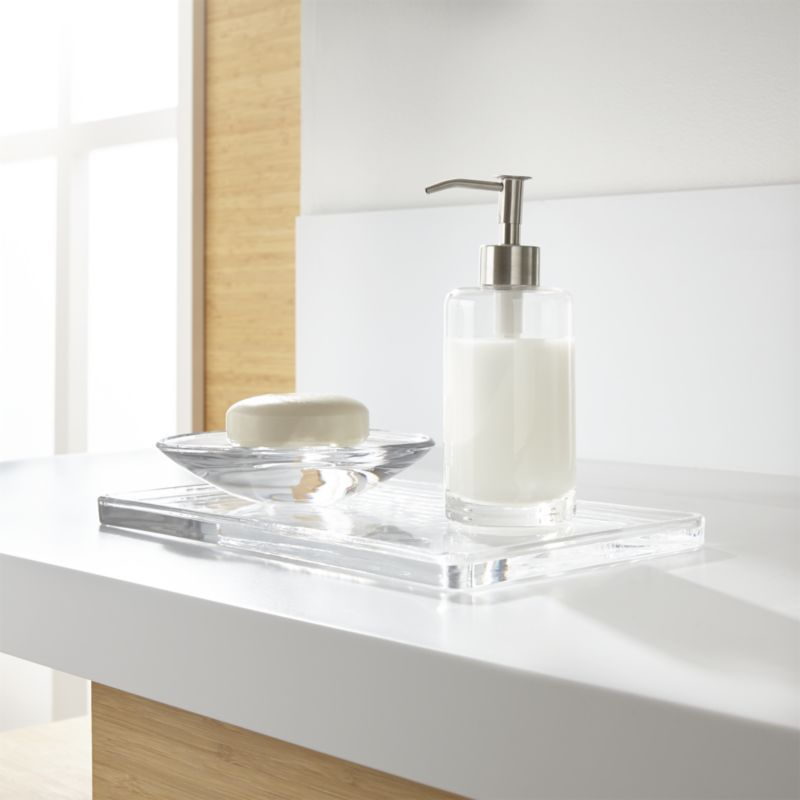 Shop Glass Bath Accessoriesclear Glass Accessories Bring Clean Entrancing Clear Bathroom Accessories Inspiration Design
