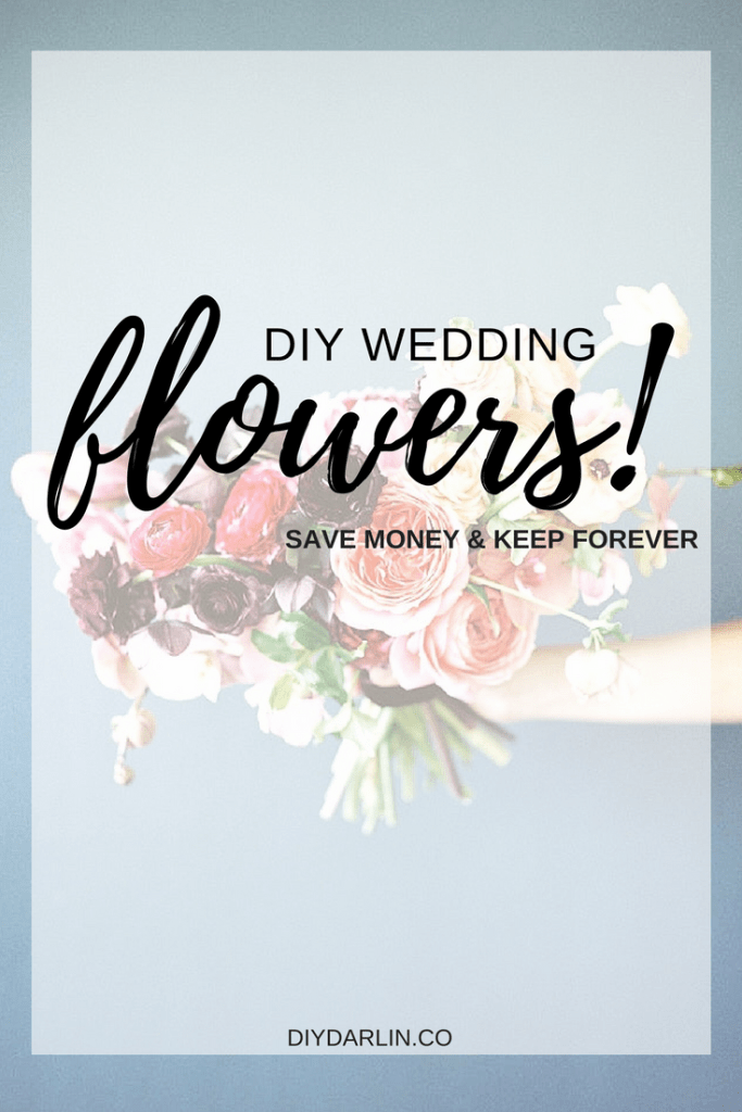 How to DIY wedding flowers with realtouch flowers. Diy