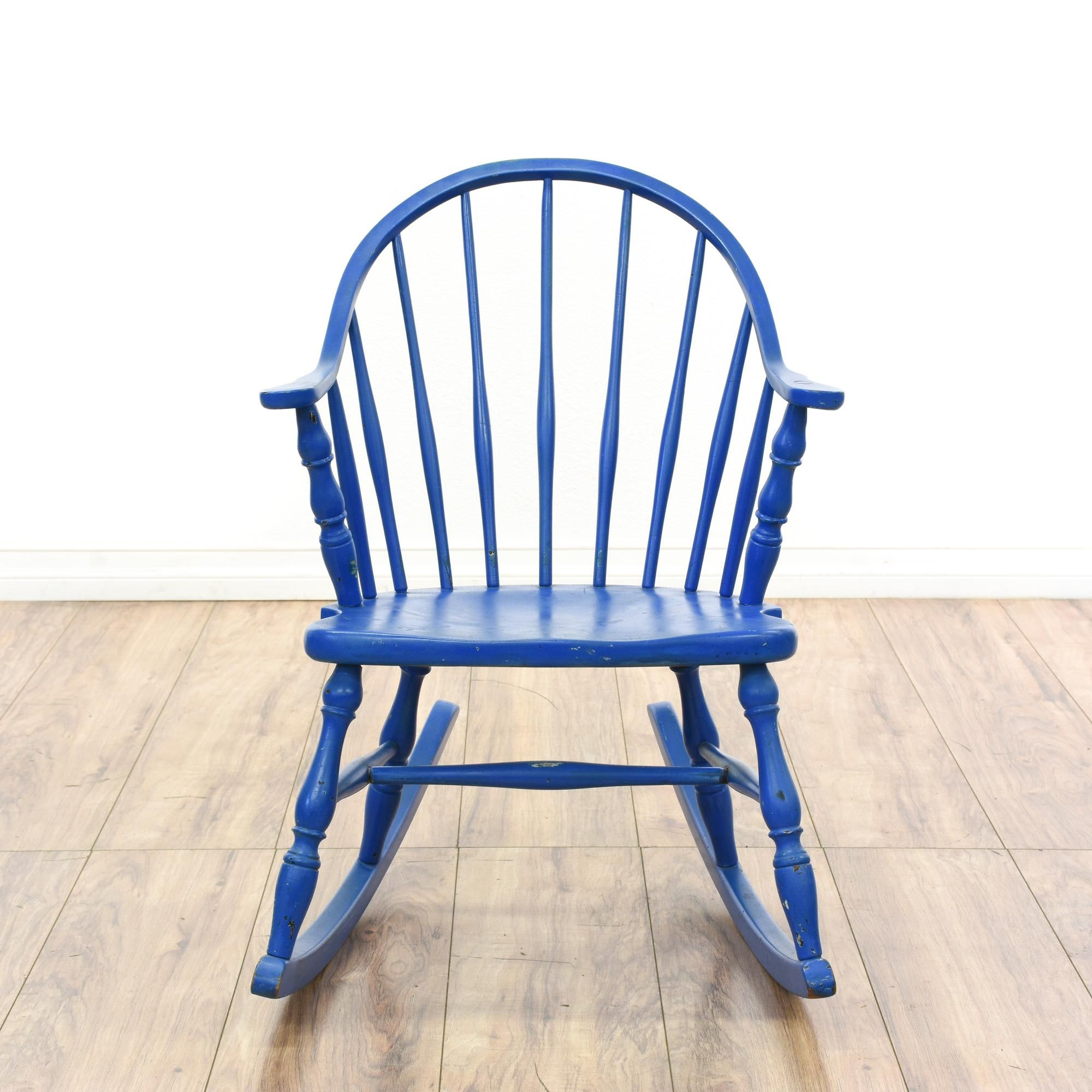 Shabby Chic Child's Blue Rocking Chair Blue rocking