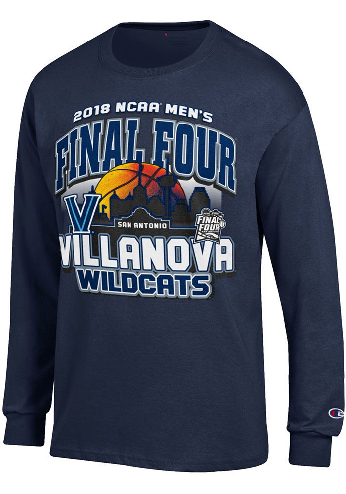8cd94ed43 Champion Villanova Wildcats Navy Blue Desert Ball Long Sleeve T Shirt, Navy  Blue, 100