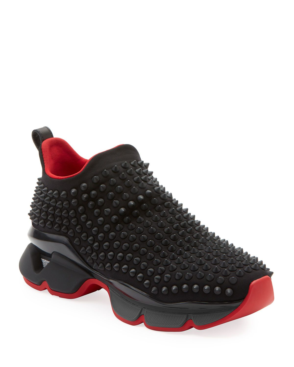 big sale 5fc61 7e47e Christian Louboutin Spike Sock Donna Red Sole Sneakers ...