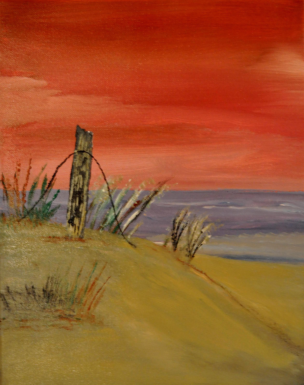 Sunset, acrylic painting 11x14 | acrylic beach paintings ...