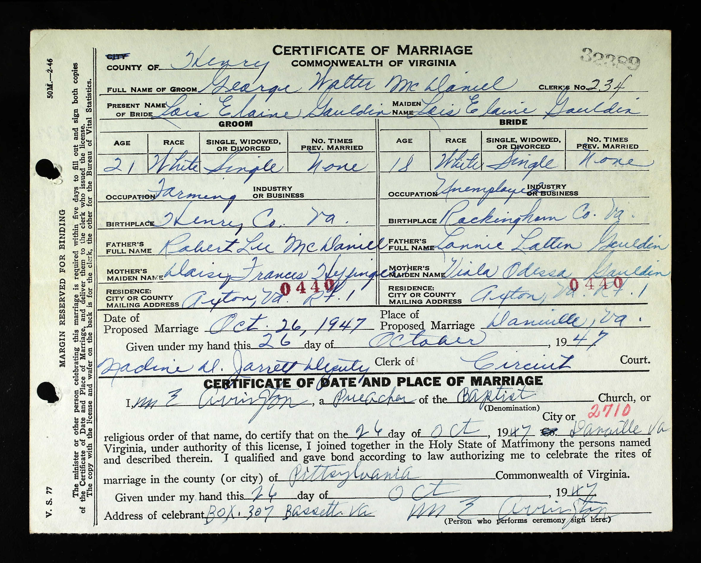 Virginia Marriage Records 1936 2014 Rip Marriage Records