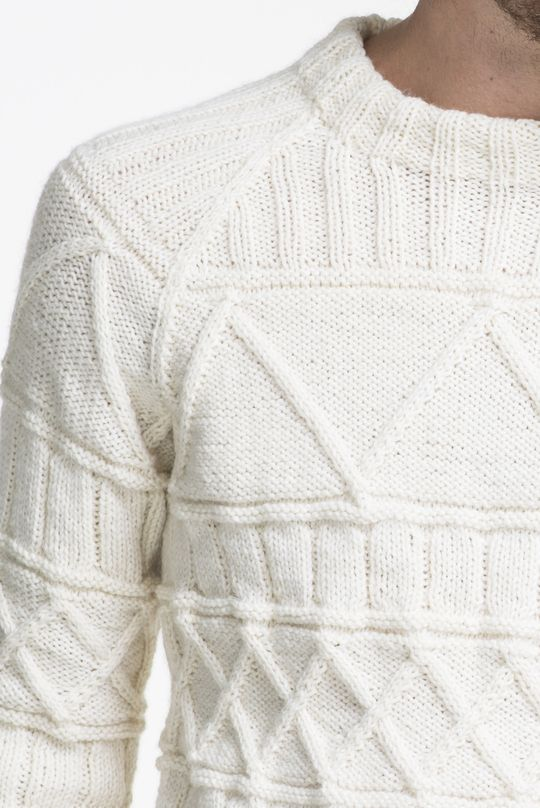 Free Knitting Pattern for a Raglan and Cable Men\'s Sweater   Knits ...