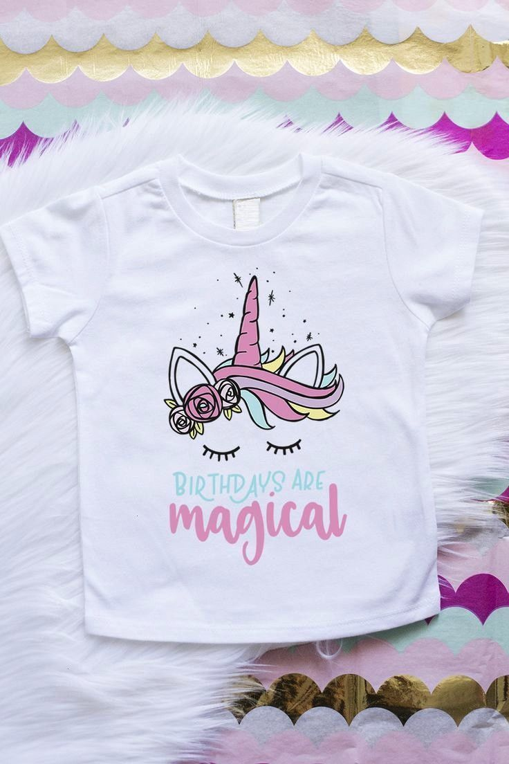 Are Magical Birthdays Are MagicalBirthdays Are Magical Stunning Six Glitter Birthday TShirt Graphics are adhered to each shirt using a heat transfer process for durabilit...