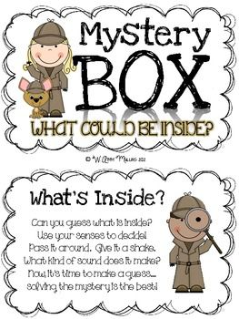 Mystery Box Activity Teaching Fun Inferencing Mystery Box