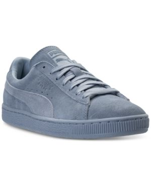 5b461c4ddc6a Puma Men's Suede Classic Tonal Casual Sneakers from Finish Line - Blue 11.5