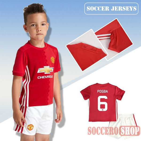 49bacab48 ... Newest Cool Manchester United Red 2016-2017 Home Kids Soccer Jersey  With Pogba 6 Printing 2015-2016 Juventus club DYBALA 21 pink ...