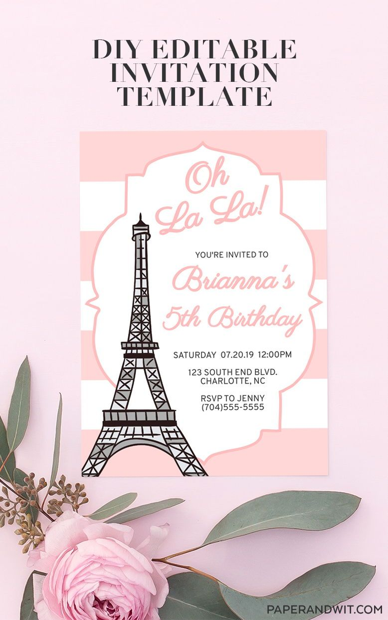 French Birthday Party Ideas