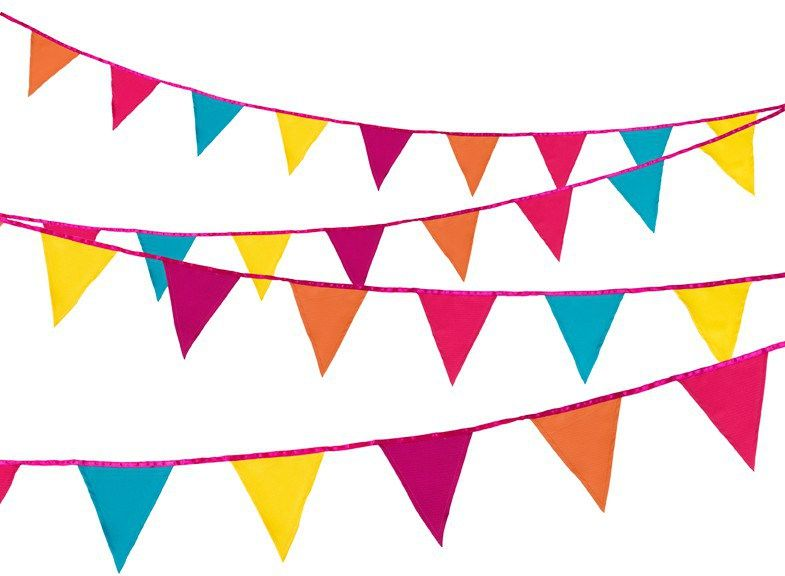 Mexican Fiesta Inspired Diy Wedding Theme Ideas Brightly Coloured Wedding Decorations Fabric Bunting Paper Bunting Tropical Fabric