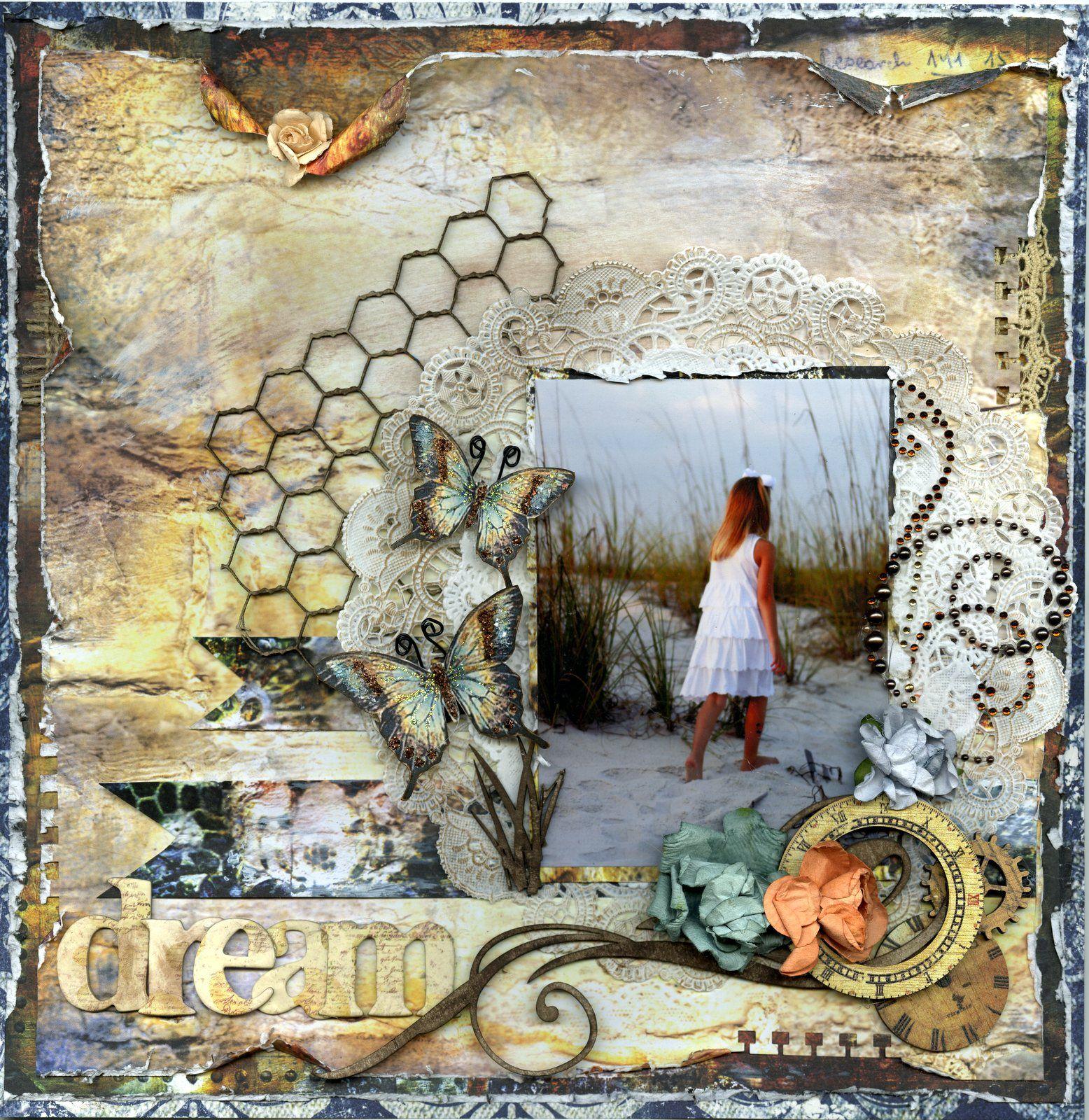 "Layout: dream ~~Scraps Of Darkness kit ""White Rabbit"" by   Memoriesofmygirls"