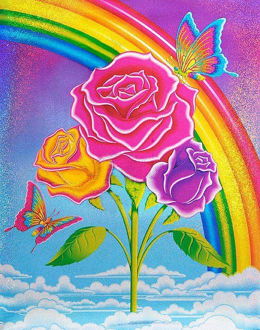 Colors, roses, rainbow, clouds, butterflies. | Lisa frank ...