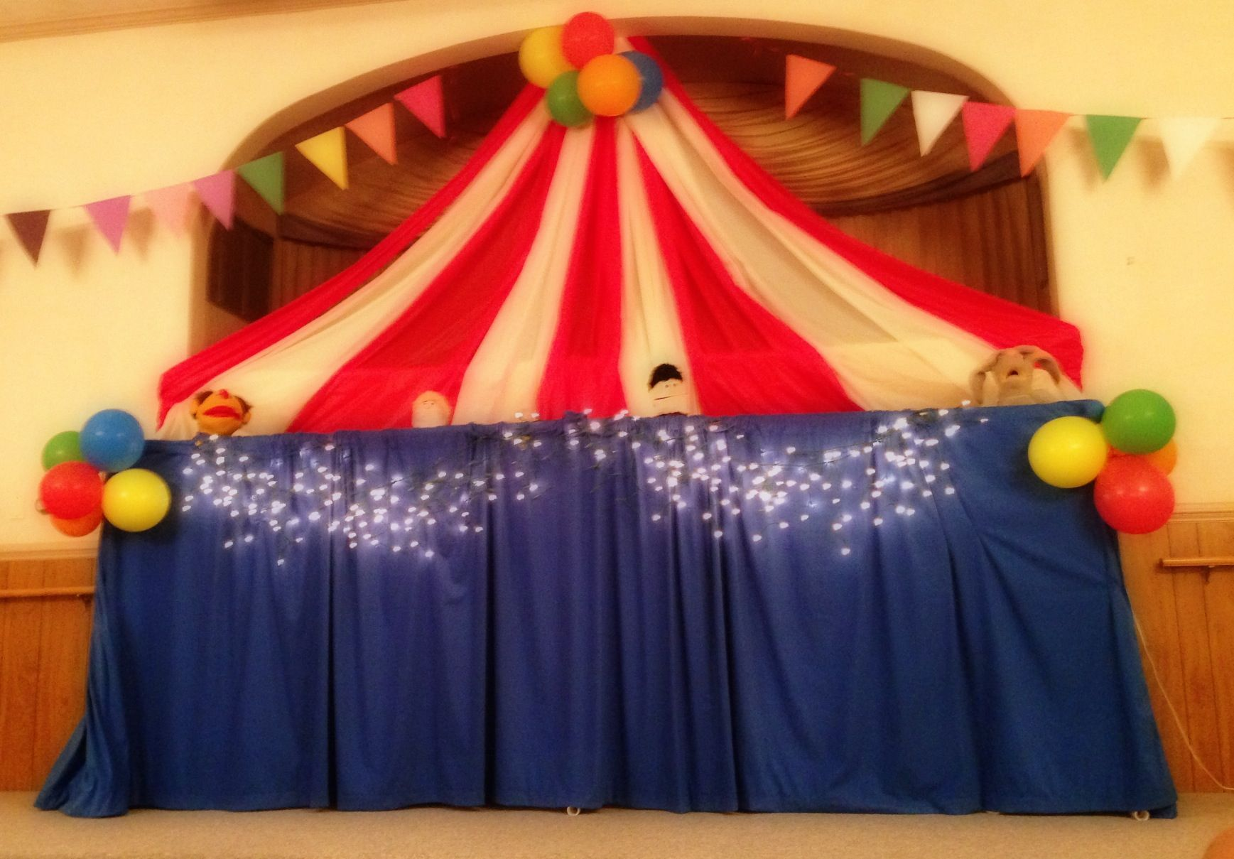Plastic Tablecloths Make A Great Circus Tent Perfect For A