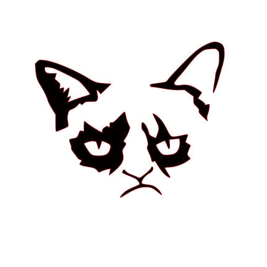 Grumpy Cat Cat Pumpkin Stencil Pumpkin Stencil Pumpkin