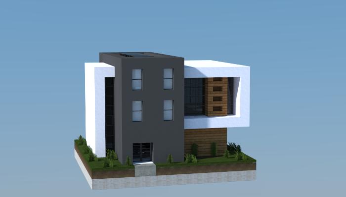 16x16 Modern House 2 Minecraft Minecraft Minecraft Houses