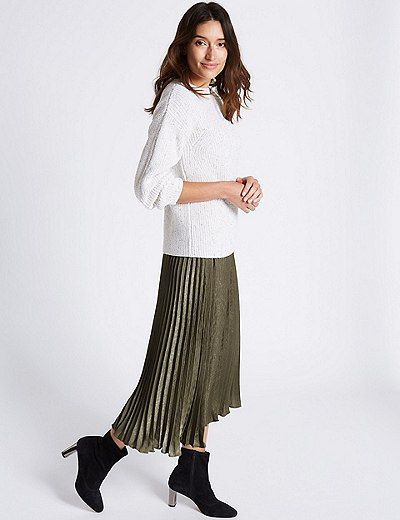 8aceefc74e Pleated A-Line Midi Skirt | Marks & Spencer London | Clothes ...