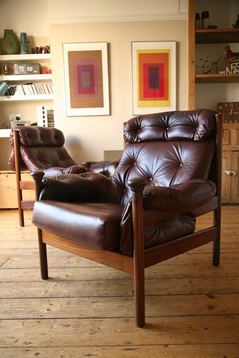 Excellent 1960S Leather Armchairs By Guy Rogers Uk Armchair Machost Co Dining Chair Design Ideas Machostcouk