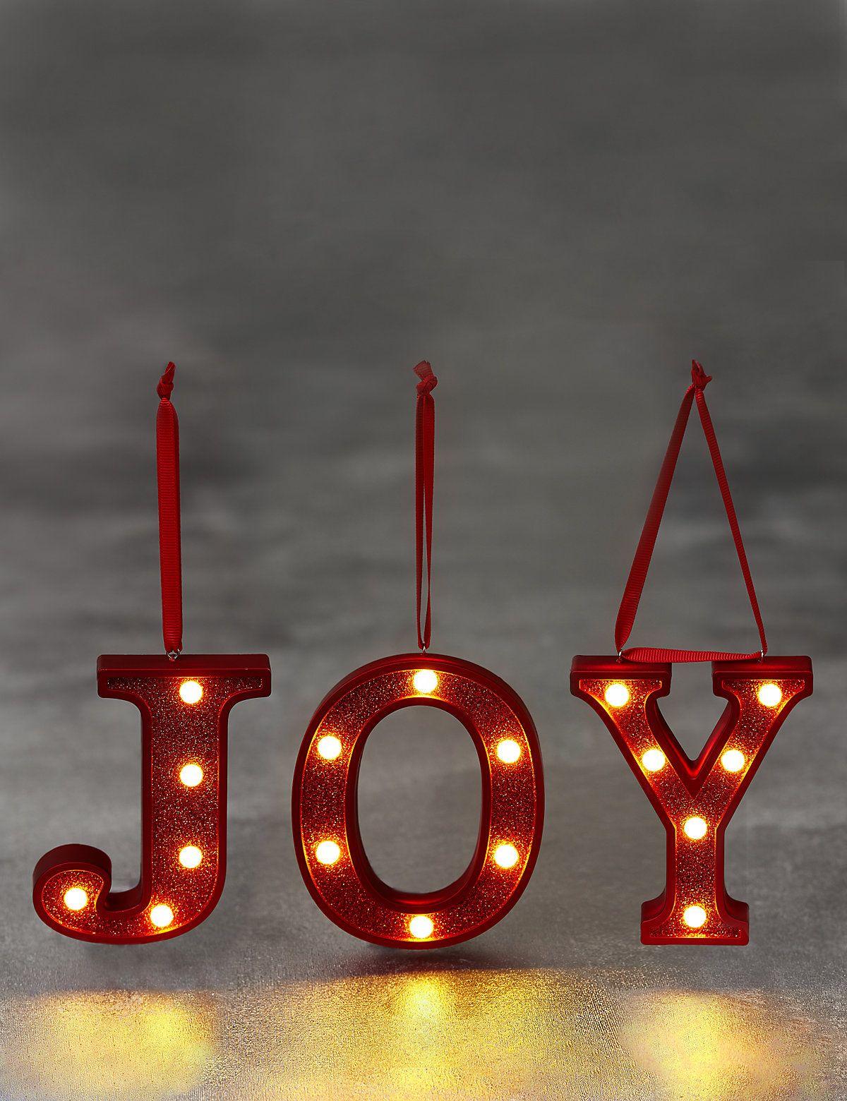 Led joy multipack christmas lights joy letters