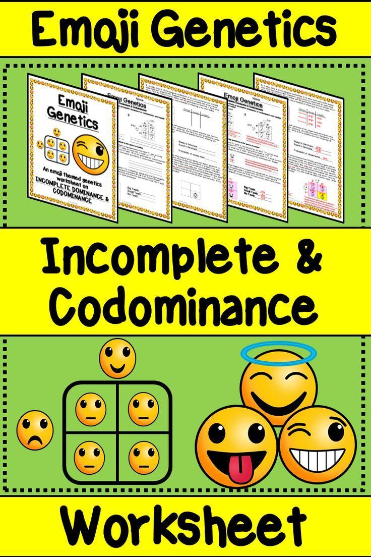 Incomplete Dominance Codominance Emoji Genetics