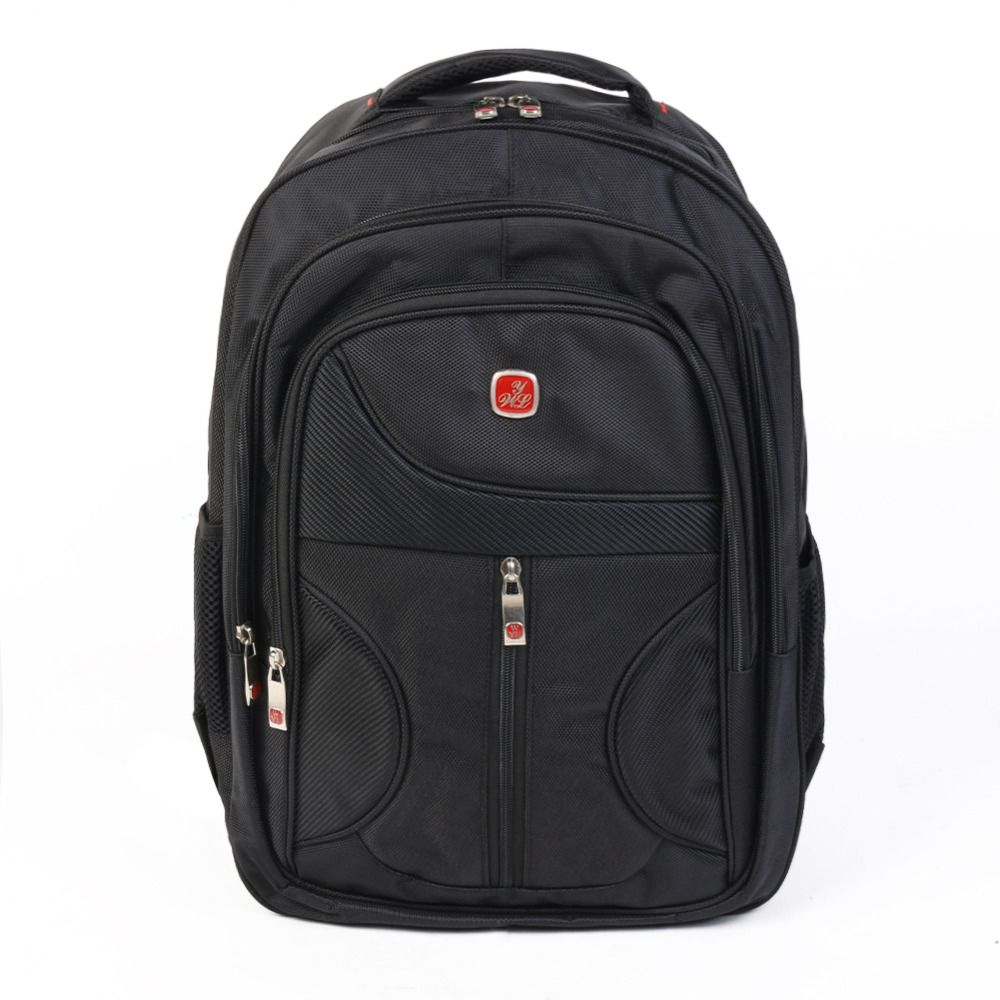 Simple style shoulder black computer bag  male and Female backpack Fits Up To Most 15.6 Inch Laptop
