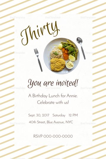 Birthday Lunch Invitation Template Birthday Lunch Lunch Invitation Invitation Template