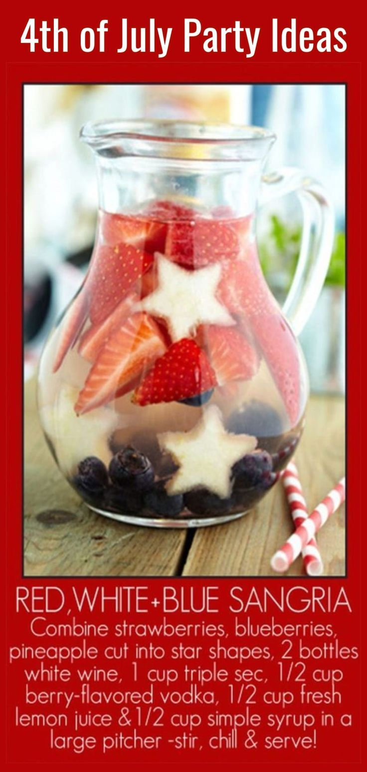 4th of July party ideas - fun drink ideas for the grownups at your 4th of July party, cookout or neighbor block party