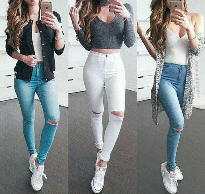 Jeans A La Cintura Outfits Ropa Ropa Tumblr Ropa De Moda