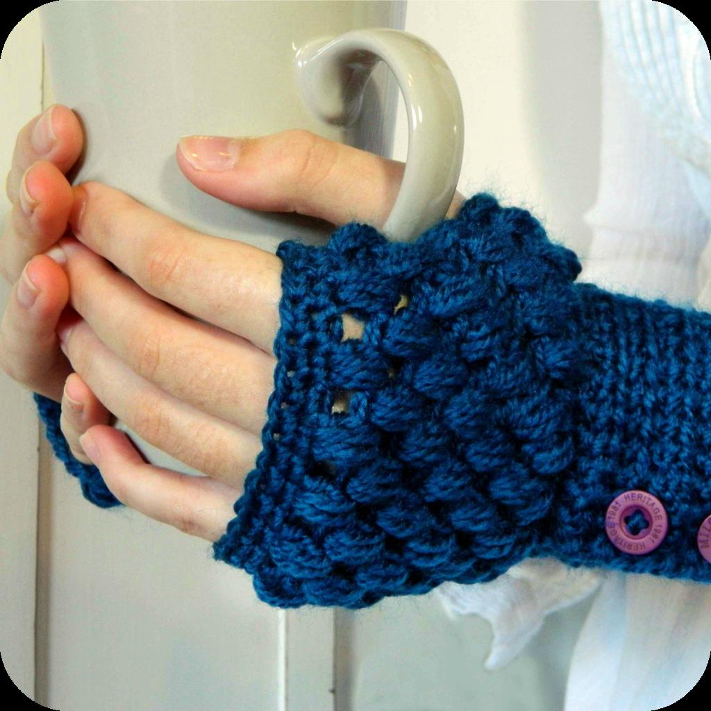 Hopeful Honey | Craft, Crochet, Create: Perfect Solutions! ~ Puff Stitch Fingerless Gloves Pattern