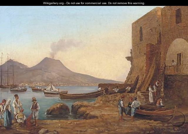 Fishermen on the shores of the bay of Naples - (after) Franz Ludwig Catel