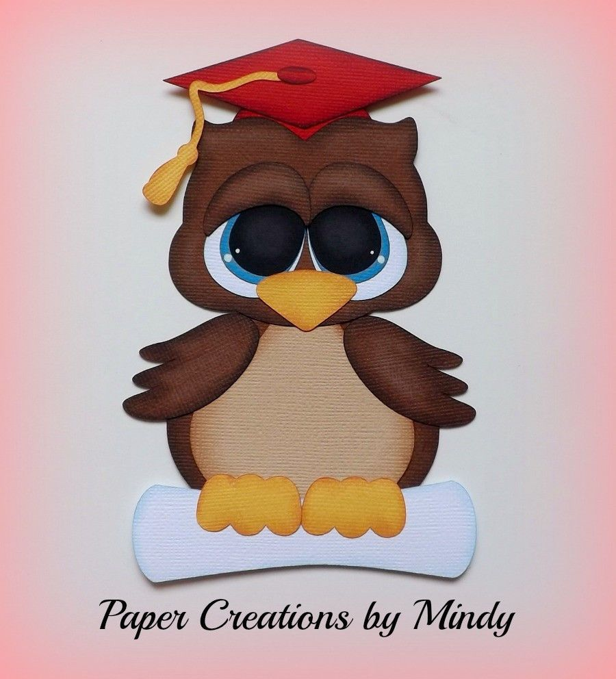 Graduation Owl School Kids premade paper piecing for scrapbooking ...