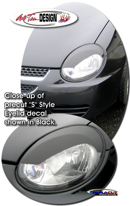 Headlight Eyelid decal kits for Dodge Neon - SRT-4 that are precut ...