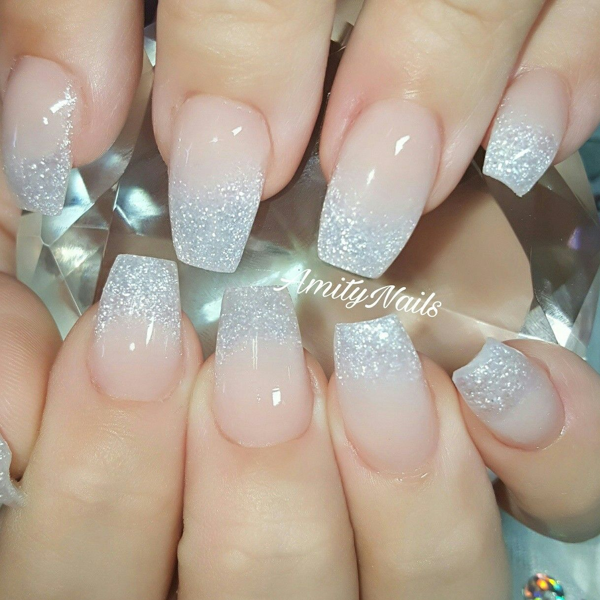 Ombre pink and glitter ballerina. nails | AmityNails.com ...