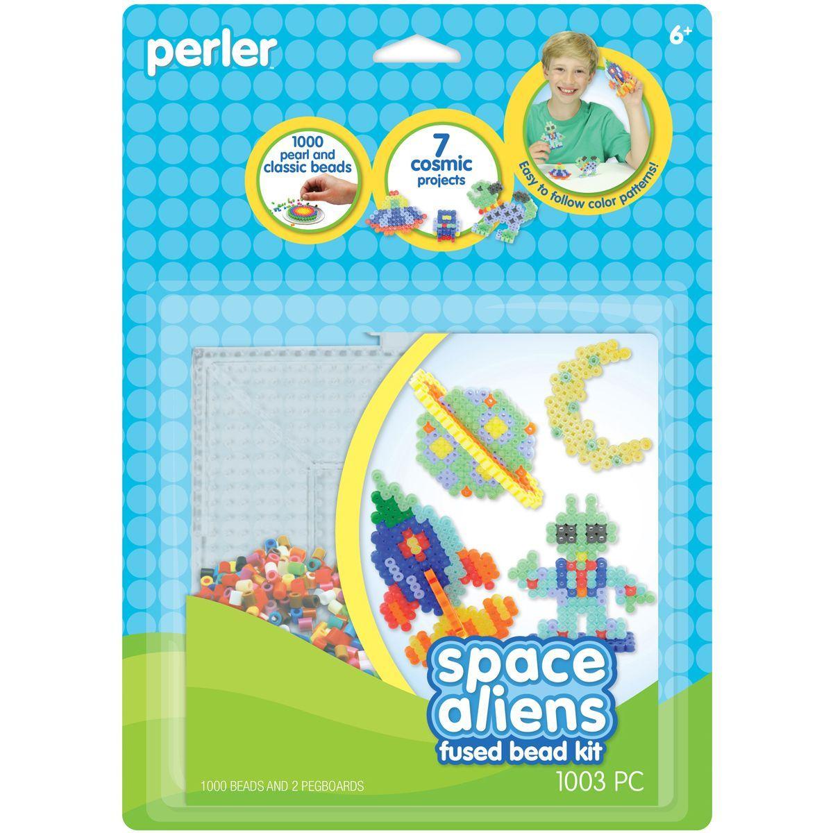 Perler Fun Fusion Fuse Bead Activity KitSpace Aliens