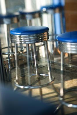 How To Reupholster Metal Bar Stools With Images Metal Bar
