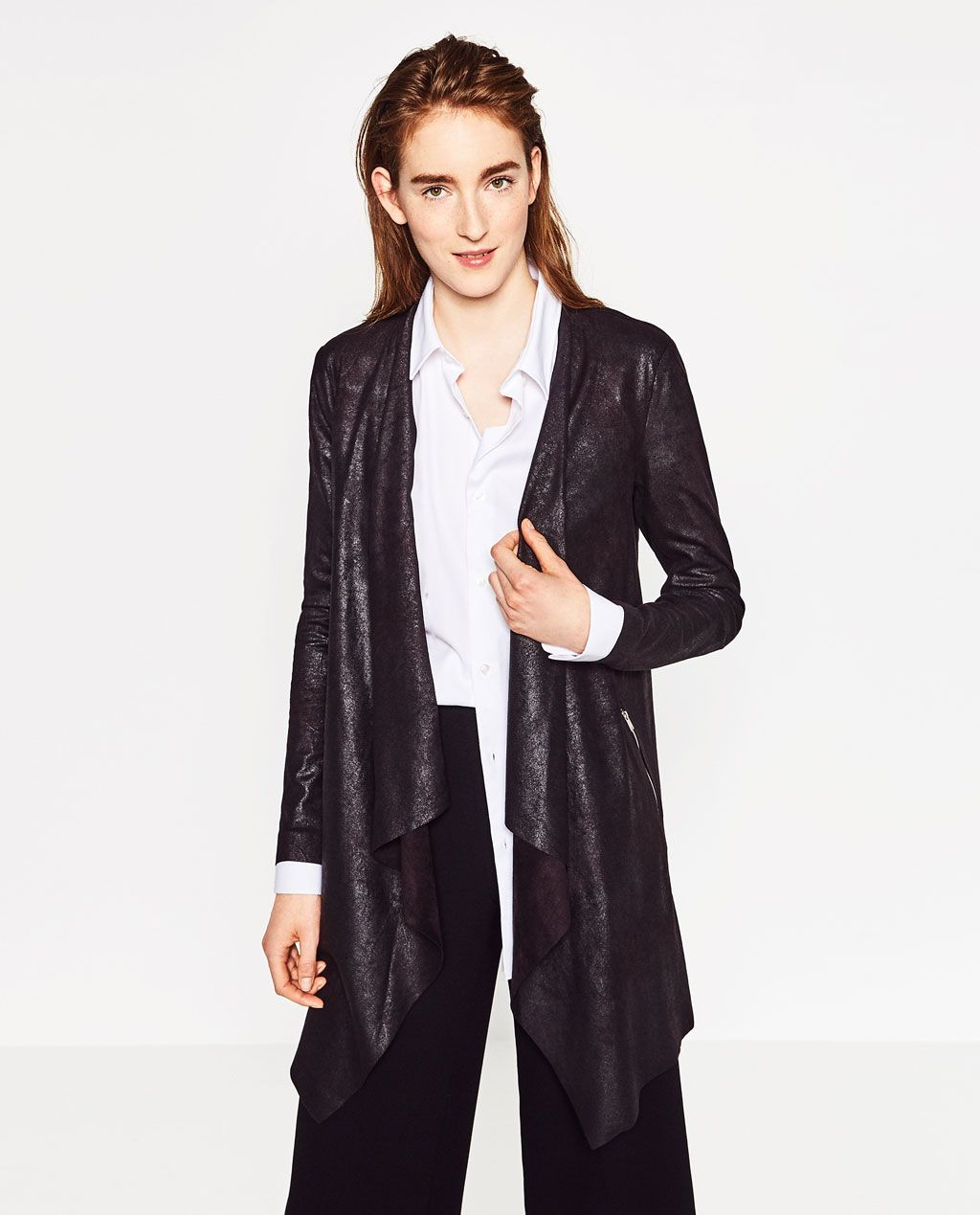 76214d7cdc SUEDE-EFFECT JACKET-OUTERWEAR-WOMAN-COLLECTION AW16   ZARA United ...