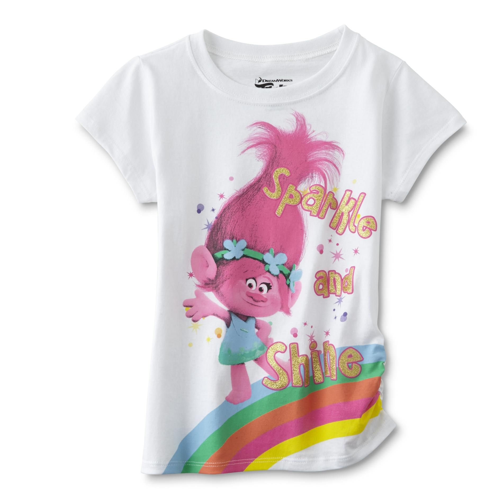 2993e1bfe05 Dreamworks Trolls Girls  T-Shirt - Princess Poppy