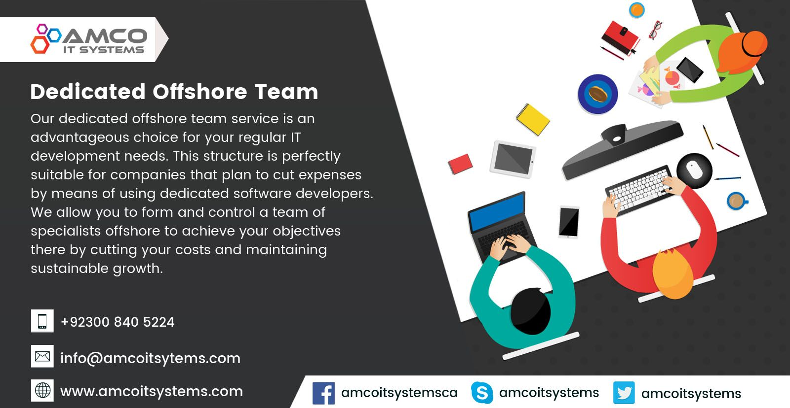 Amco IT Systems provides you dedicated teams that enables