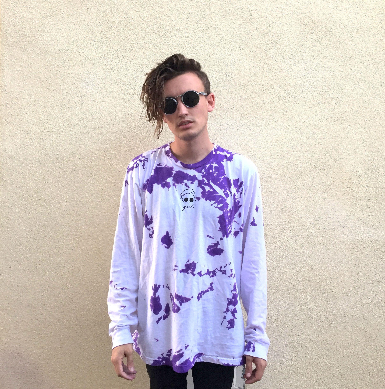 The Purple Tie Dye Long Sleeve Tie Dye Long Sleeve Broken Hearts Club Beautiful People [ 2448 x 2419 Pixel ]