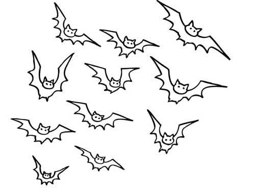 Halloween Kostenlose Malvorlage Viele Fledermause Zum Ausmalen Malvorlagen Halloween Baume Zeichnen Malvorlagen