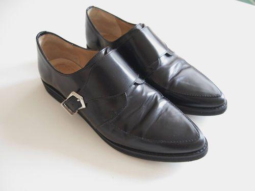 094a310d64 Black Zara women s leather monk brogues oxfords buckle size EUR 37 ...