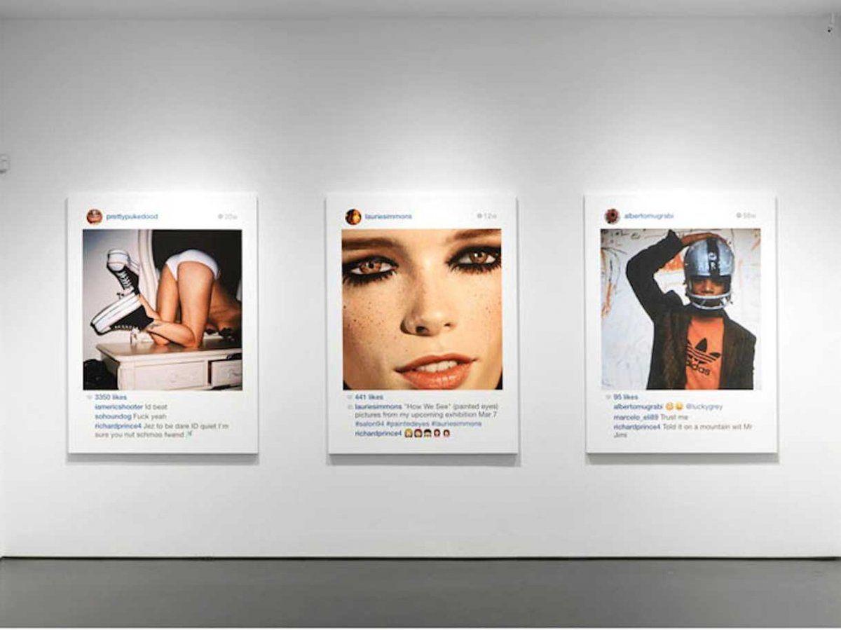 Taiteilija kokosi näyttelyn instagram kuvistasi. Richard Prince gagosian gallery new portraits instagram copyright